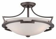 Quoizel PN1718PY Parkston Powder Grey Semi Flush Mount Ceiling Light Fixture