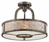 Quoizel QF1398SMM Mottled Silver Finish 16 Inch Diameter Semi Flush Ceiling Light