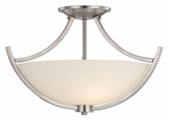 Quoizel TCR1718BN Tucker Semi Flush Mount Brushed Nickel Transitional Overhead Lighting