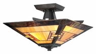 Quoizel TFKY1715IB Kennedy Semi Flush Mount Tiffany Ceiling Light - Imperial Bronze