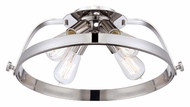Quoizel UPTR1716IS Uptown Theater Row Contemporary Imperial Silver Ceiling Light Fixture - 17 Inch Diameter