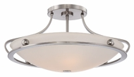 Quoizel UPWS1722BN Uptown Wall Street Semi Flush Mount 22 Inch Diameter Ceiling Lighting Fixture