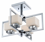 Quoizel WIN1718C Wain 18 Inch Diameter Contemporary Semi Flush Lighting - Polished Chrome