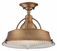Quoizel CDY1714ZC Cody Transitional Mystic Copper Finish Semi Flush Lighting