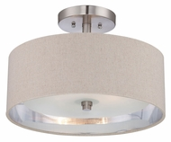Quoizel CKMO1716BN Metro Brushed Nickel Transitional Semi Flush Mount Lighting