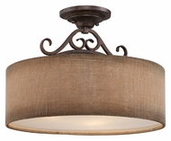 Quoizel CLS1717OZ Carlsbad Old Bronze Semi Flush Mount Lighting - 17 Inch Diameter