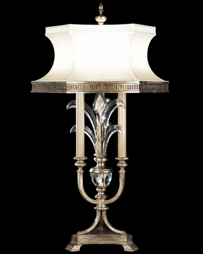 Fine Art Lamps 738210 Beveled Arcs Tall 3-lamp Crystal Table Lamp