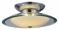 ET2 E20521-10 Curva Medium 2 Lamp 12 Inch Diameter Polished Chrome Finish Ceiling Light Fixture