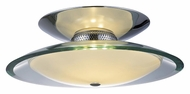 ET2 E20522-10 Curva Large Semi Flush Mount 16 Inch Diameter Ceiling Light - Polished Chrome