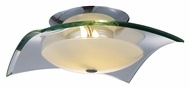 ET2 E20525-10 Curva Large 16 Inch Diameter 3 Lamp Semi Flush Lighting - Polished Chrome
