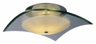 ET2 E20526-10 Curva Small Polished Chrome Finish Clear Glass Semi Flush Mount Lighting - 9 Inch Diameter