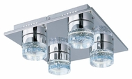 ET2 E22742-91PC Fizz II Polished Chrome Finish Contemporary Style 4 Lamp Ceiling Light Fixture