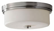 Feiss FM371BS Kincaid 15 Inch Diameter Brushed Steel Finish Transitional Ceiling Light - Large
