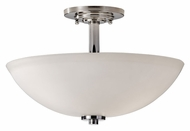 Feiss SF308PN Malibu 14 Inch Diameter Semi Flush Ceiling Light - Polished Nickel