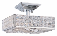 Crystorama 909-CH-CL-MWP Chelsea Semi Flush Mount Clear Crystal 10 Inch Diameter Modern Ceiling Light