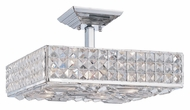 Crystorama 914-CH-CL-MWP Chelsea Polished Chrome Finish 14 Inch Wide Semi Flush Mount Lighting
