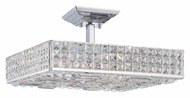 Crystorama 918-CH-CL-MWP Chelsea 18 Inch Wide Polished Chrome Semi Flush Overhead Lighting