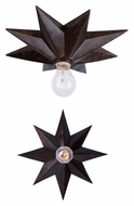 Crystorama 9230-EB Astro English Bronze Finish 12 Inch Diameter Contemporary Star Ceiling Light