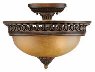 Crystorama 9304-ES Yorktown Espresso Finish 15 Inch Diameter Semi Flush Ceiling Light Fixture - Small