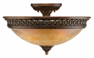 Crystorama 9305-ES Yorktown 18 Inch Diameter Traditional Espresso Semi Flush Lighting - Large
