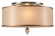Crystorama 9503-AB Luxo Small Semi Flush Mount Antique Brass Transitional Overhead Lighting