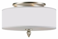 Crystorama 9503-SN Luxo Small Transitional 14 Inch Diameter Satin Nickel Semi Flush Lighting
