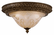 Crystorama 7400-BU Norwalk Traditional Bronze Umber 3 Lamp Flush Lighting Fixture