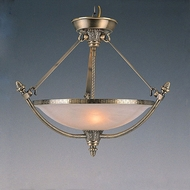 Crystorama 8104-AB 24 Inch Diameter Antique Brass 5 Lamp Ceiling Light Fixture