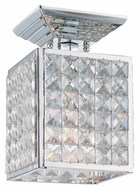 Crystorama 900-CH-CL-MWP Chelsea 8 Inch Tall Polished Chrome Cube Ceiling Lighting Fixture - Semi Flush