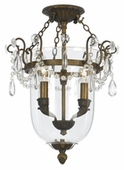 Crystorama 5711-AB New Town Traditional Antique Brass Finish 13 Inch Wide Ceiling Light Fixture