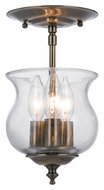 Crystorama 5715-AB Ascott Transitional Antique Brass Semi Flush Ceiling Light Fixture