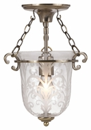 Crystorama 5760-AB Camden 10 Inch Diameter Antique Brass Traditional Ceiling Lighting