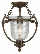 Crystorama 5771-AB Camden Semi Flush Mount Antique Brass 11 Inch Diameter Ceiling Light