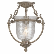 Crystorama 5771-AS Camden Antique Silver Finish 11 Inch Diameter Traditional Semi Flush Mount Lighting