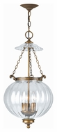 Crystorama 5783-AB Camden 12 Inch Diameter Antique Brass Finish Traditional Hanging Lamp