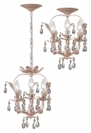 Crystorama 5823-BH Paris Flea Market Convertible Blush Finish 12 Inch Diameter Ceiling Light & Pendant