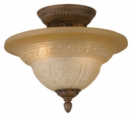 Crystorama 6303-A-VB Oxford Semi Flush Mount Traditional Venetian Bronze Ceiling Light