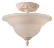 Crystorama 6303-BH Oxford Blush Finish 12 Inch Diameter Semi Flush Mount Lighting Fixture
