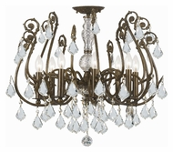Crystorama 5118-EB-CL-MWP Regis 24 Inch Diameter English Bronze Clear Crystal Semi Flush Lighting