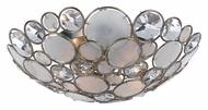 Crystorama 524-SA Palla 15 Inch Diameter Semi Flush Modern Ceiling Lighting Fixture - Antique Silver