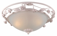 Crystorama 5300-BH Paris Flea Market Traditional 18 Inch Diameter Blush Finish Flush Mount Overhead Lighting