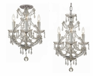 Crystorama 4473-CH-CL-MWP Maria Theresa Polished Chrome 21 Inch Tall Convertible Ceiling Light & Pendant