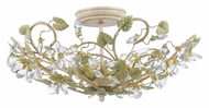 Crystorama 4840-CT Josie 3 Lamp Semi Flush Mount 20 Inch Diameter Rustic Ceiling Light