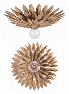 Crystorama 500-GA Broche Transitional Antique Gold Finish 11 Inch Diameter Ceiling Lighting Fixture