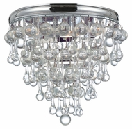 Crystorama 135-CH Calypso Crystal 10 Inch Diameter Polished Chrome Finish Flush Lighting