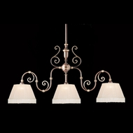 Crystorama 1373-RB 3 Lamp Roman Bronze 60 Inch Wide Traditional Island Light Fixture