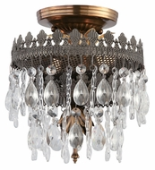 Crystorama 1590-FA Alhambra Small Semi Flush Mount Crystal 8 Inch Diameter Ceiling Light - Fiesta