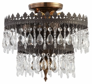 Crystorama 1593-FA Alhambra Medium Fiesta Finish 12 Inch Diameter Ceiling Light Fixture