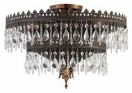 Crystorama 1595-FA Alhambra Large Crystal 18 Inch Diameter Crystal Semi Flush Overhead Lighting