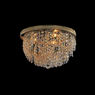 Crystorama 349-14-GD-CL-MWP Bohemian Crystal Basket 14 Inch Diameter Crystal Overhead Lighting - 3 Lamps